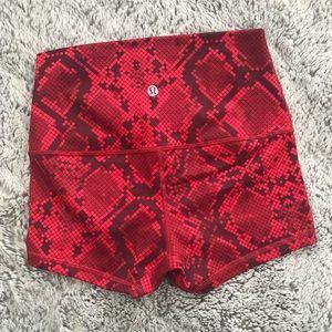 "lululemon athletica Shorts - Lululemon Align shorts 4"" in red print"